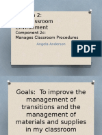 manage classroom procedures and materials  2