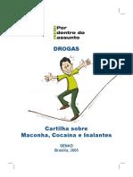 Cartilha Sobre Maconha Cocaina e Inalantes - SENAD