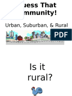 social studies guess that community- urban suburban rural