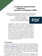 2010 - Telefonia mobile per l'apprendimento ubiquitario.  Indagine esplorativa sull'impiego di MMS (Didamatica)