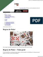 Como Jogar Poker - Regras Do Poker 01
