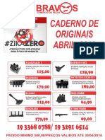 Caderno de Originais- Abril 2016