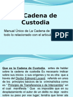 La Cadena de Custodia Clase