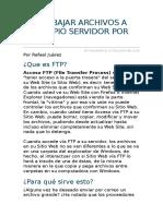 Subir y Bajar Archivos a Su Propio Servidor Por Ftp