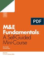 M&E Fundamentals- A Self-Guided Mini-Course