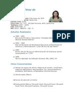 Curriculum Rosa Lidia Pérez de Menéndez