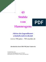 43 Stühle von Hannesgens