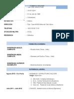 Curriculum Juan Jose Jimenez Arias