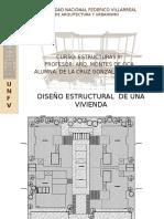 Modelo Esquema Estructural Vivienda