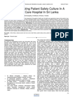 Factors Affecting Patient Safety Culture in a Tertiary Care Hospital in Sri Lanka 1