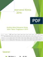 Pelan Intervensi Kimia SPM 2016 Penggal 1