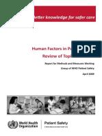 Human Factors Review