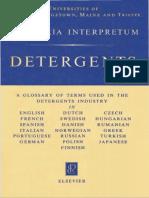 GLOSSARIA INTERPRETUM - DETERGENTS