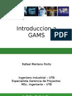 Introducion a GAMS