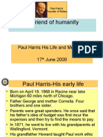 Paul Harris His Life and Message