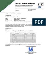 PT MMM - Permohonan Dukungan Peralatan (Meranti)