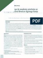 Factores de Riesgo de Neoplasias Prioritarias en El Hospital Nacional Almanzor Aguinaga Asenjo