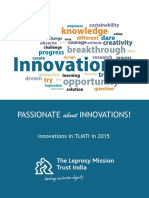 Passionate About Innovations -Innovations in Tlmti in 2015