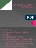 Bab 4.Wang, Bank Dan Dasar Kewangan