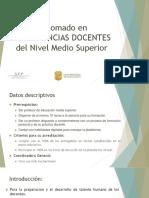Diplomado en Competencias Docentes Del Nivel Medio Superior
