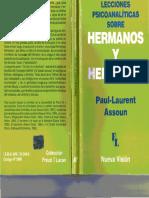 Paul-Laurent Assoun - Lecciones Psicoanalíticas Sobre Hermanos y Hermanas