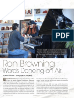 Ron Browning Words Dancing On Air Nashville Arts Magazine Article PDF