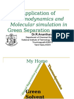 Application of Thermodynamics and Molecular Simulation in Chemical Engineering Problems
