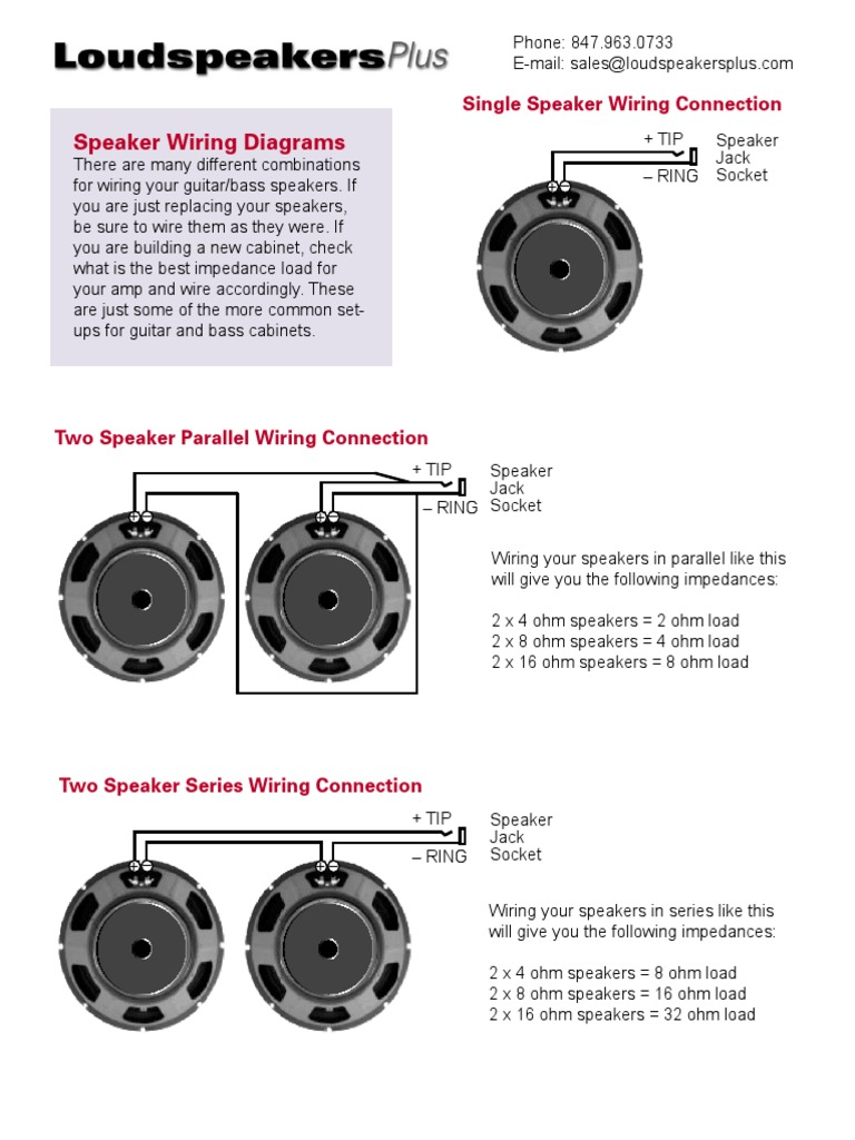 Speaker Wiring Diagrams Pdf Loudspeaker Series And Parallel Circuits