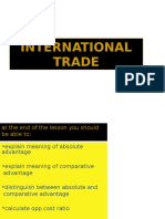 International Trade - Lect 1 (Absolute n Comparative Advantage)