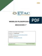 Modelos Filosoficos de La Educacion y La Educacion Virtual