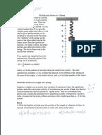 motion of a spring worksheet