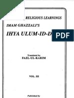 Ihya' °ulum ad-Din [vol.3