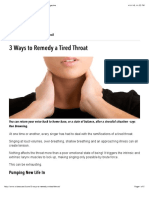 3 Ways to Remedy a Tired Throat | VoiceCouncil Magazine