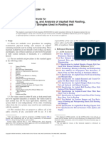 D228D228M-15 Standard Test Methods for Sampling, Testing, And Analysis of Asphalt Roll Roofing, Cap Sheets, And Shingles Used in Roofing and Waterproofing