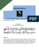 Grieg - Melodías elegíacas op. 34 nº 2  (análisis)
