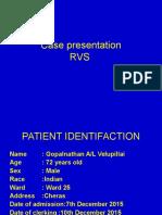 Case Presentation Rvs Second Cs Write Up2