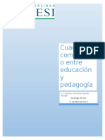 Cuadro Comparativo Entre Pegagogía y Educación