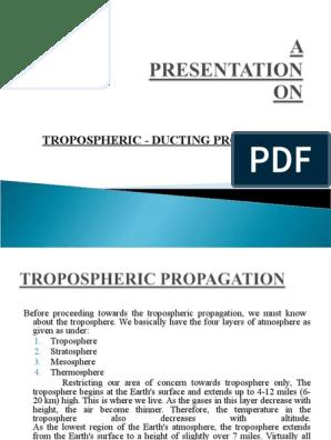 Ducting Propagation | Radio Propagation | Atmosphere Of Earth