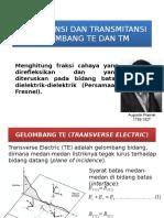 5-Reflektansi Dan Transmitansi Gelombang TE Dan TM (Persamaan Fresnel)