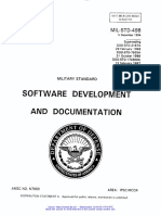 MIL-STD-498 Software Development and Documentation