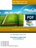 ACC 400 HELP Learn by Doing