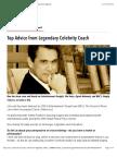 Top Advice from Legendary Celebrity Coach   VoiceCouncil Magazine