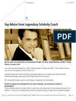 Top Advice from Legendary Celebrity Coach | VoiceCouncil Magazine