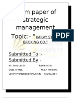Term Paper of Strategic Manage Men 1