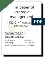 Term Paper of Strategic Manage Men 1