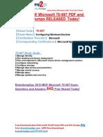 [2016-Latest]Microsoft 70-697 Exam PDF and VCE Dumps 84Q Share