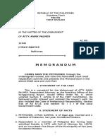 Memorandum Complainant Case 3