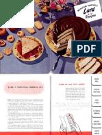 Lard in 133 Recipes 1950s