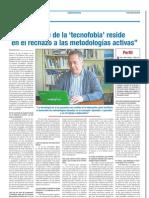 Entrevista en el periódico Escuela