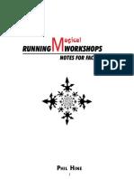 Running Magickal Workshops - Phil Hine